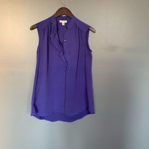 Calvin Klein Sleeveless Purple Blouse SZ XS